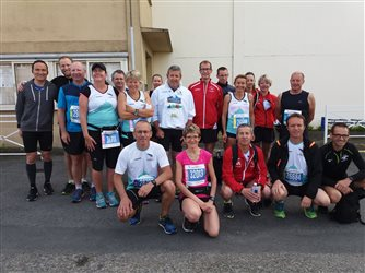 semi marathon et trail run in Mt St Michel